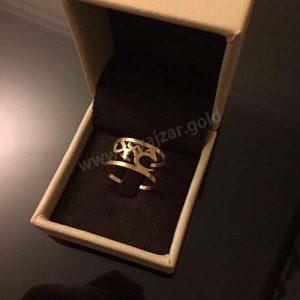 انگشتر طلا با اسم حمید