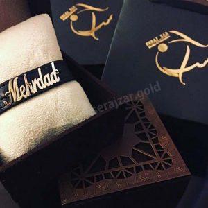 دستبند طلا اسم امیرحسین