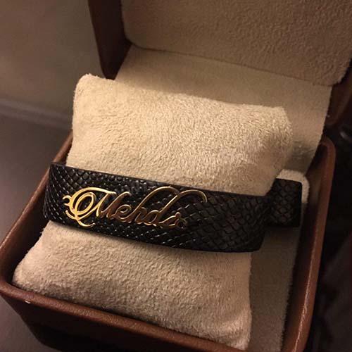 دستبند طلا با اسم مهدی لاتین