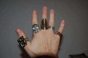 مفهوم انگشتر در انگشتهای دست