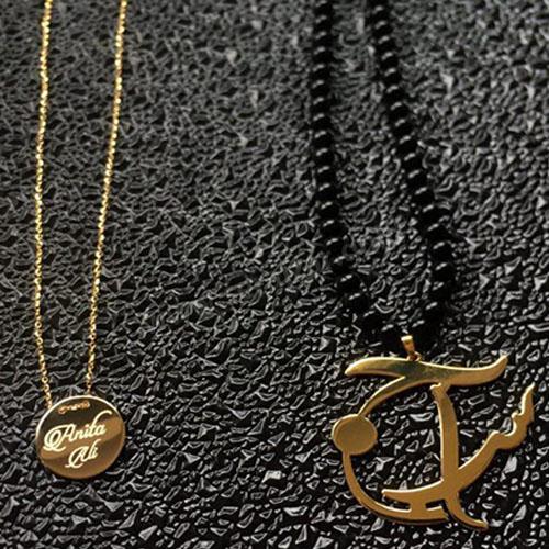 گردنبند طلا اسم آنیتا و علی
