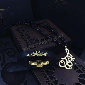دستبند و گردنبند طلا اسم پویان