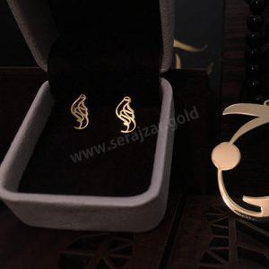 گوشواره طلا با اسم ویدا