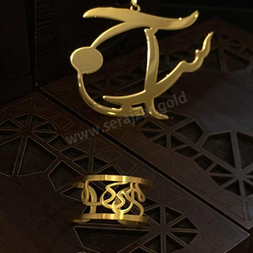 انگشتر طلا اسم ملیکا
