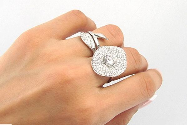 انگشتر طلای دو انگشتی