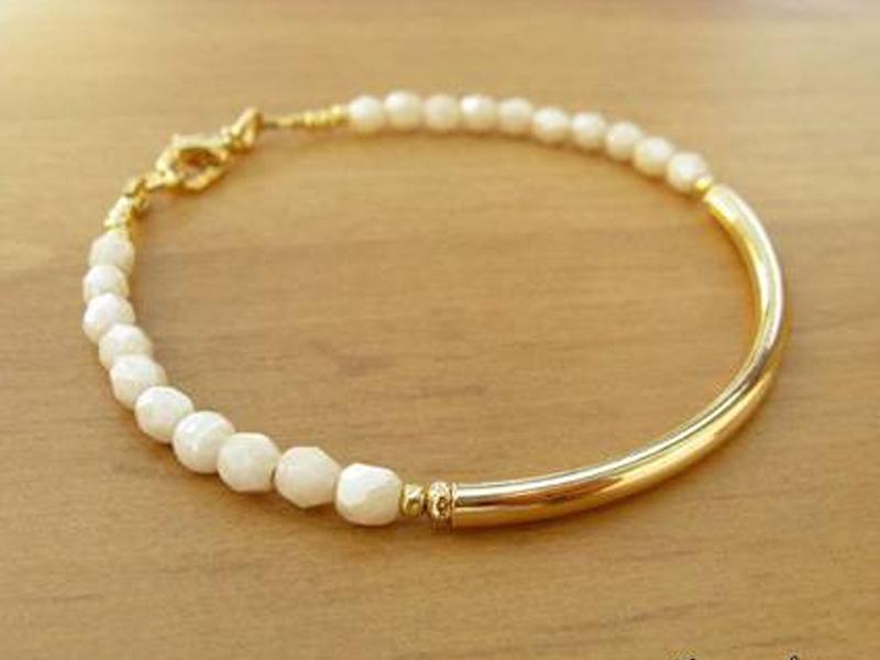 دستبند طلای مروارید دار