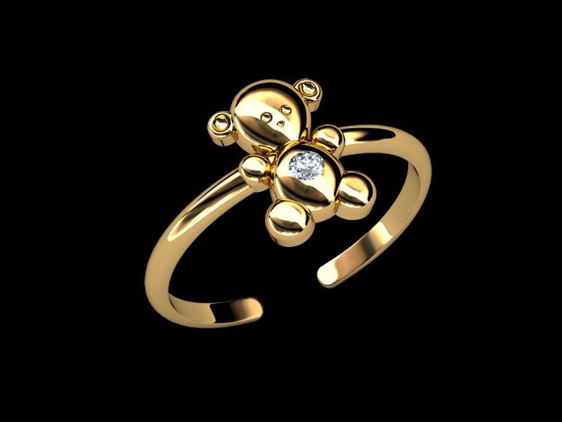 دستبند طلای نیمه باز برای نوزادان
