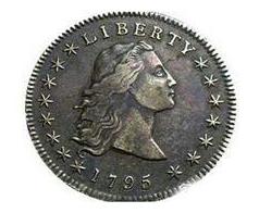 سکه دلار با موهای افشان