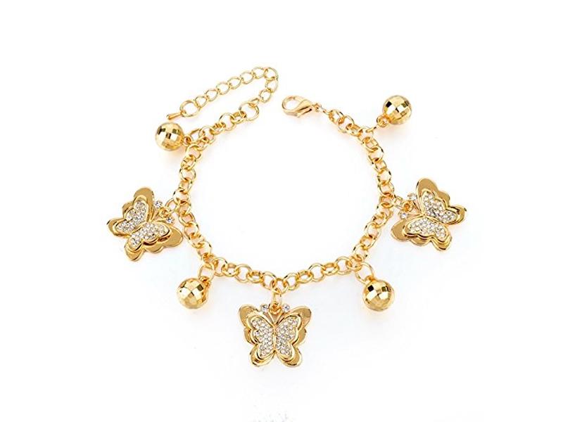دستبند طلا زنجیری آویزدار