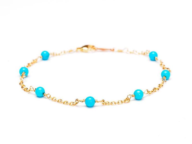 دستبند طلا زنجیری مهره دار