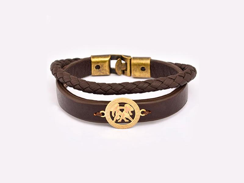دستبند طلا و چرم