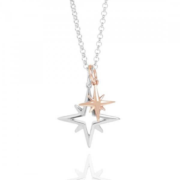 گردنبند دو رنگ طلا ستاره