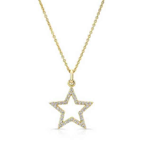 گردنبند ستاره ساده