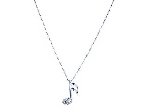 گردنبند نت موسیقی نگین دار