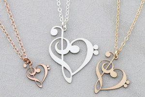 گردنبند نت موسیقی