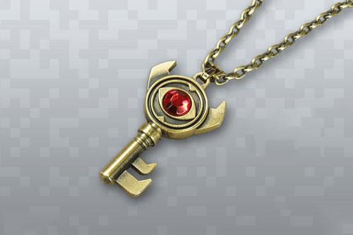 گردنبند کلید با نگین قرمز