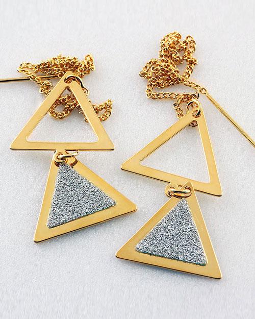 گوشواره طلا مثلثی