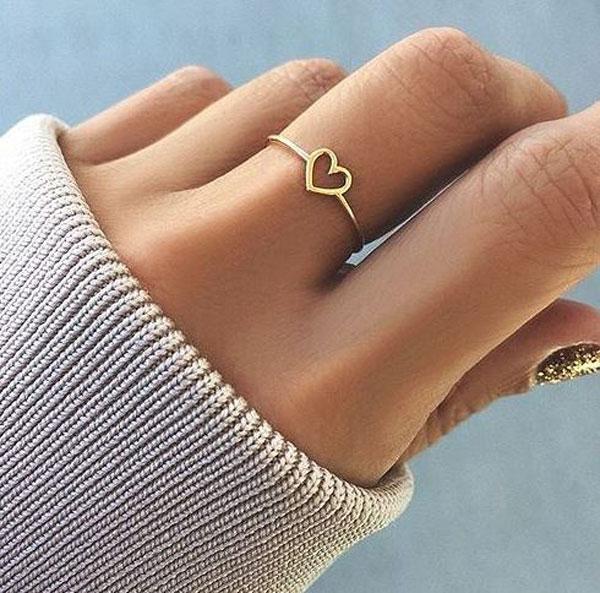انگشتر طلا طرح قلب ظریف