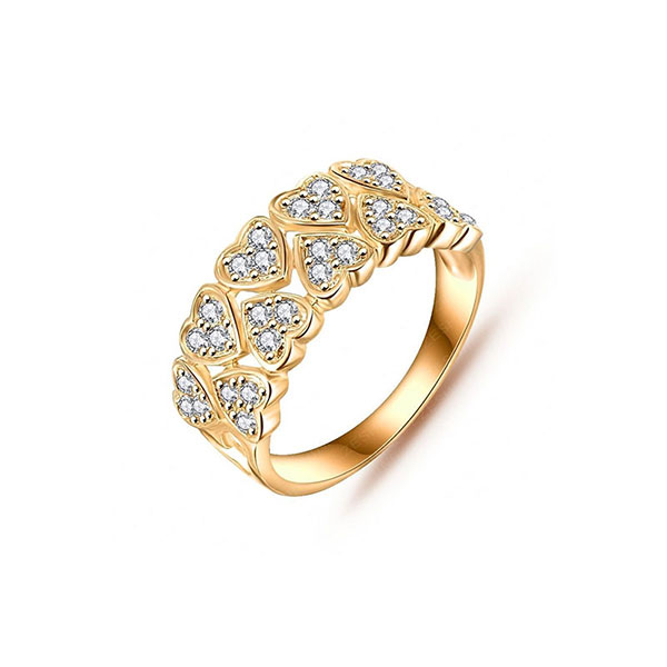انگشتر طلا طرح قلب نگین دار