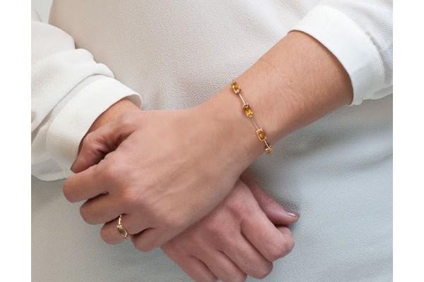 ست انگشتر و دستبند سنگ دار