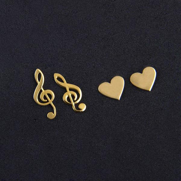 گوشواره میخی طلا