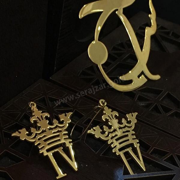 گردنبند فانتزی طلا حرف IV