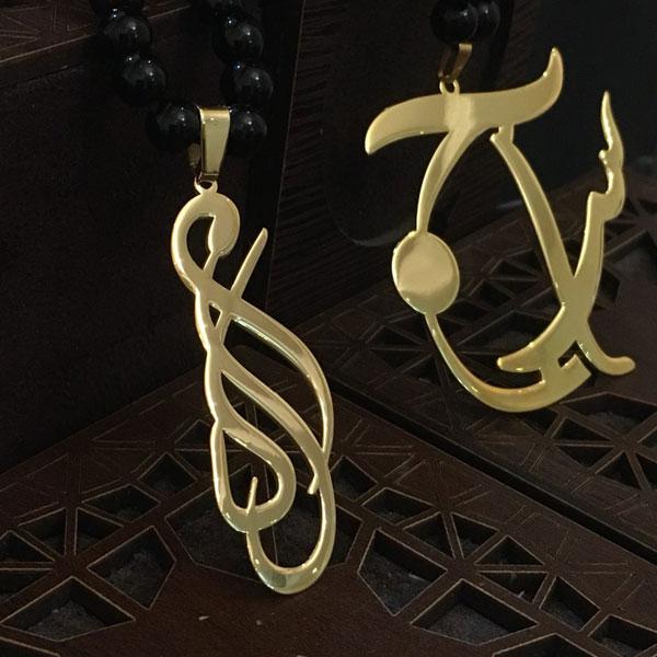 پلاک طلا با اسم ماکان