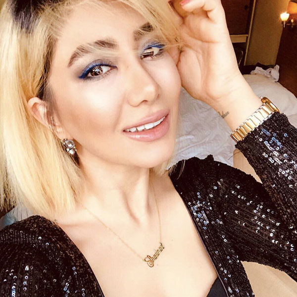 گردنبند طلا اسم خانم شادناز