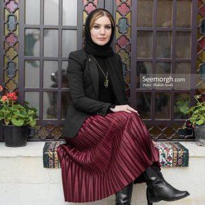آویز طلا خانم متین ستوده