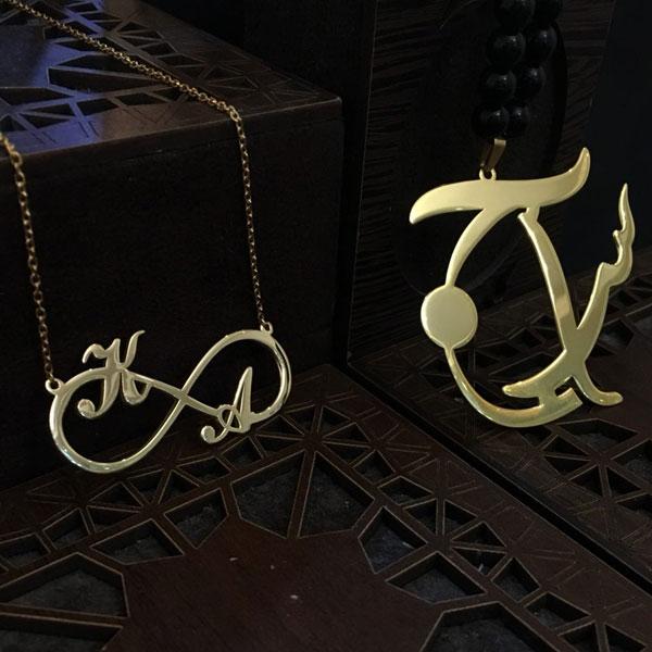 زنجیر طلا حروف لاتین
