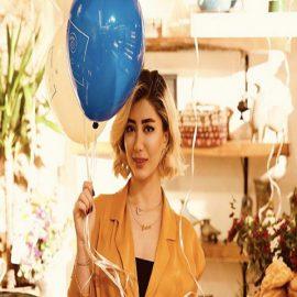 پلاک طلا اسم خانم شادناز