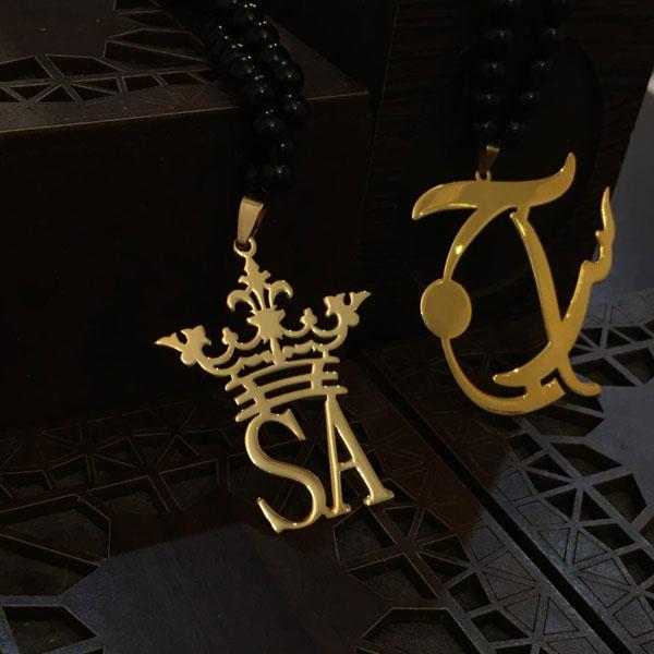 گردنبند طلا حروف لاتین