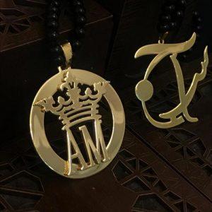 پلاک طلا فانتزی تاج AM