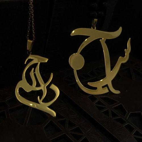 گردنبند طلا با نام راحله