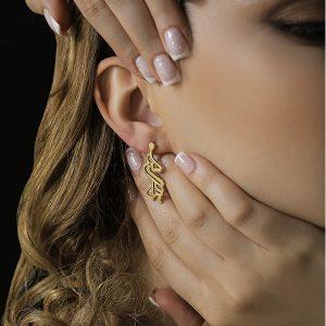 گوشواره طلا با اسم سمیرا