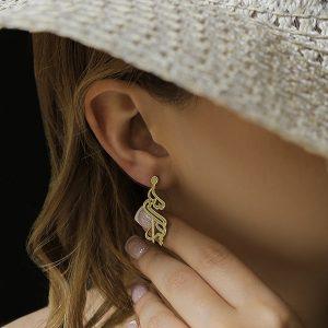 گوشواره طلا با طرح سمیرا
