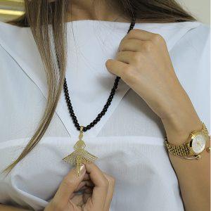پلاک طلا فانتزی با طرح دختر